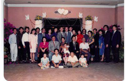 杨柳江夫妇结婚五十周年的全家福(1989)