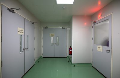 View of clean room environment